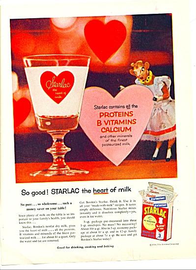 1956 Starlac - Bordens ELSIE Cow MILK AD (Image1)