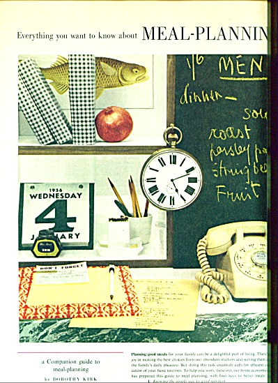 Womans Home companion meal planning guides (Image1)