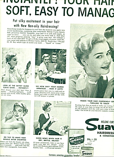 1956 Helene Curtis SUAVE AD BLONDE MODEL (Image1)