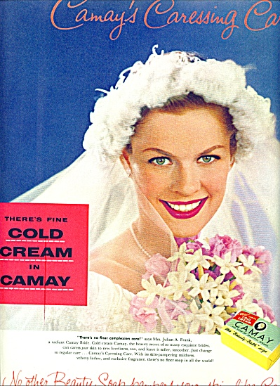 1956 CAMAY Beauty SOAP AD MRS. JULIAN FRANK (Image1)