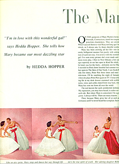 1956 MARY MARTIN by Hedda Hopper Story (Image1)