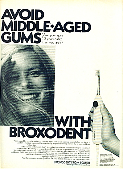 1969 Broxodent from Squibb AD SMILING BLONDE (Image1)