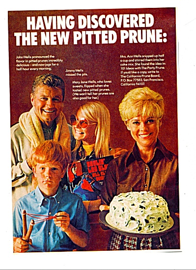 1969 California Prunes AD The WELLS FAMILY (Image1)