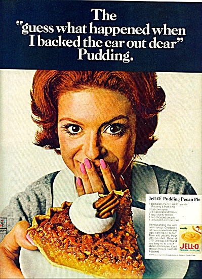 1969 JELLO AD Pudding PECAN PIE RECIPE AD (Image1)