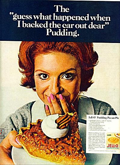 1969 JELLO AD Pudding PECAN PIE RECIPE AD (Image1)