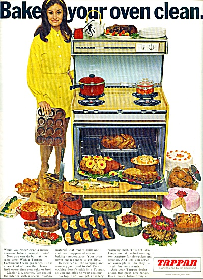 1969 TAPPAN Oven Stoven AD BAKE IT CLEAN (Image1)