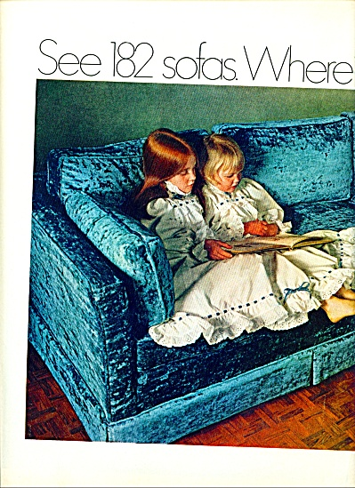 1969 SEARS AD Redhead - Blonde Girls on Couch (Image1)