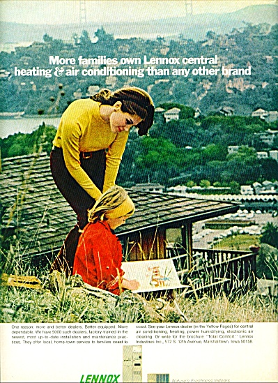 1969 LENNOX Heat - Air AD Woman - Child Pic (Image1)