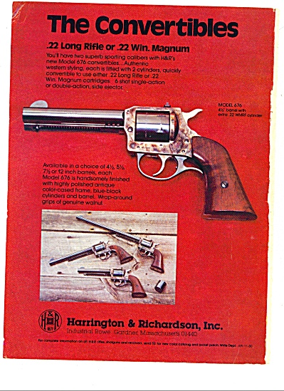 1980 Harrington & Richardson Inc., pistols AD (Image1)