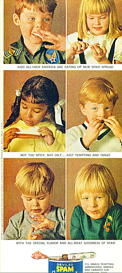 1964 Deviled Span Spread ad  Model KIDS (Image1)
