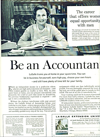 LaSalle Extension University ad 1964 (Image1)