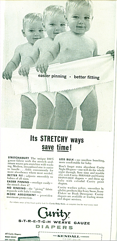 1964 Curity BABY in diapers ad (Image1)