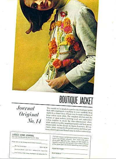 1964 Journal BOUTIQUE JACKET Pattern AD (Image1)