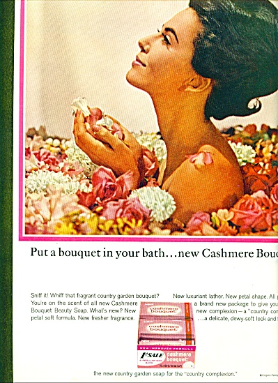 1964 Cashmere bouquet  AD Bathe in Flowers (Image1)