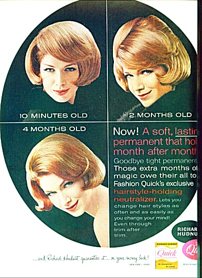 1963 Richard Hudnut QUICK Salon PERM AD (Image1)