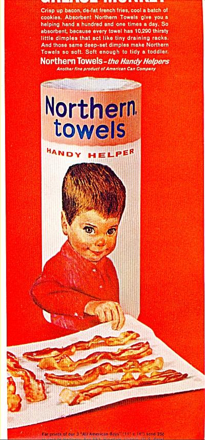 Northern towels handy helper ad  1963 (Image1)