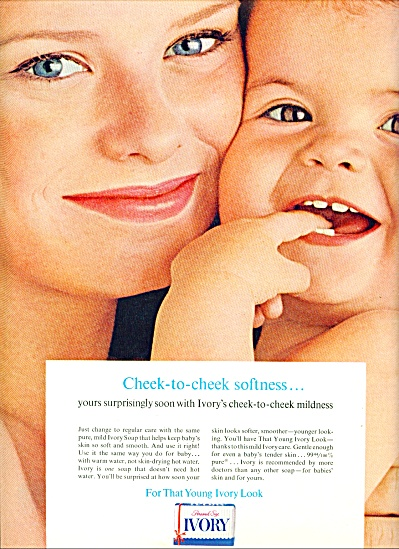 1963  Ivory Soap AD Girl  Baby CHEEK to CHEEK (Image1)
