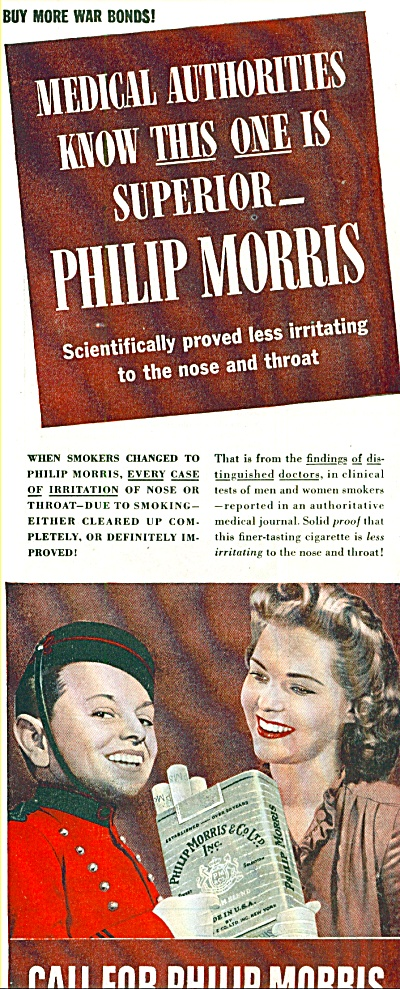 1944 Call for Philip Morris Cigarette AD JOHNNY BELLHOP (Image1)