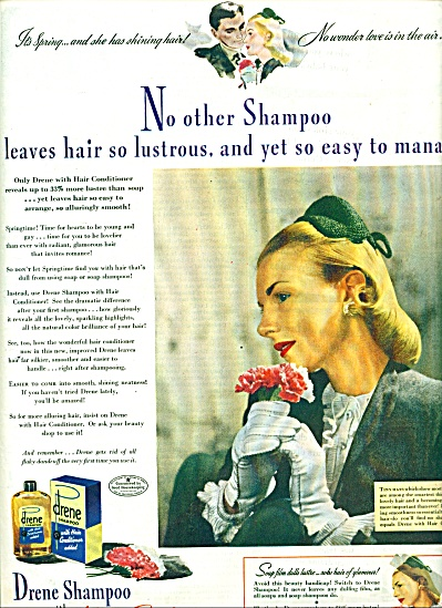 1944 Drene Shampoo AD Blonde Lady MODEL (Image1)