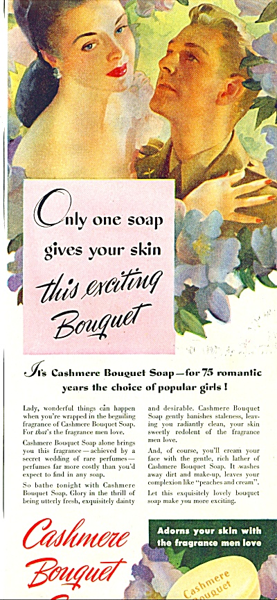 1944 Cashmere Bouquet AD AAF Soldier - Woman (Image1)