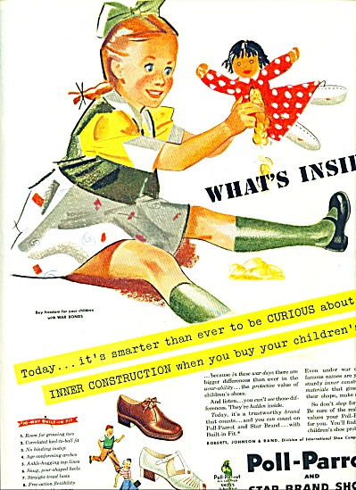 1944 Poll-Parrot and Star Brand SHOES AD (Image1)