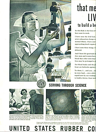 1944 US Rubber AD NURSE Artwork Patterson (Image1)
