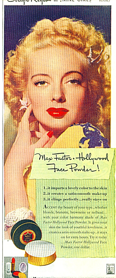 1944 Max Factor make up - EVELYN KEYES (Image1)