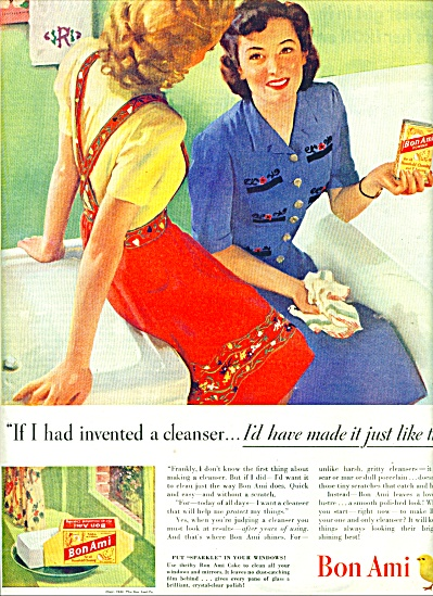 1944 Bon Ami Scouring AD TWO WOMEN - ARTWORK (Image1)