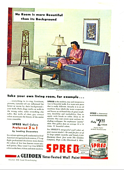 Sspred washable wall paint ad 1945 (Image1)