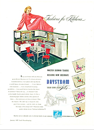 1947 DAYSTROM Tubular CHROME Kitchen AD SIP (Image1)
