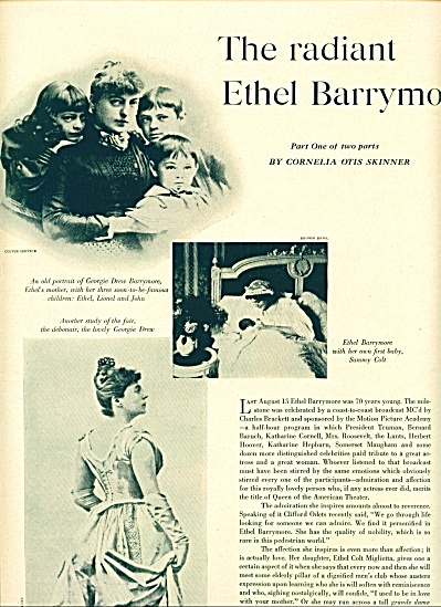 1950 The Radiant Ethel Barrymore Expose Story (Image1)