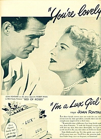 Lux Toilet soap -  JOAN FONTAINE (Image1)