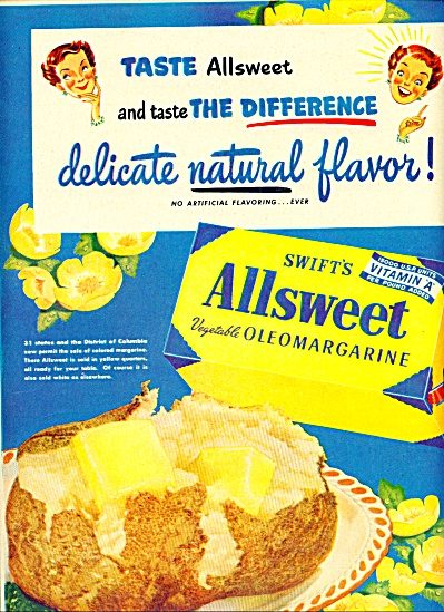 Swift's Allsweet vegetable oleomargarine (Image1)