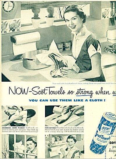 1950 Scot Towels ad - soft tuff  Kitchen Lady (Image1)