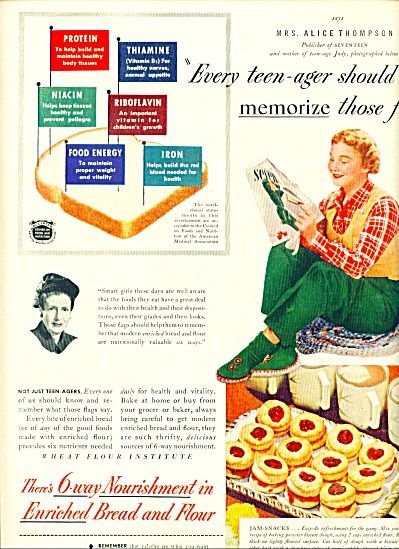 1950 Wheat Flour Institute AD Judy Thompson 1 (Image1)