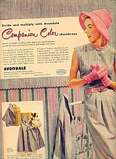 1950 Avondale Companion CLOTHES FABRIC AD (Image1)