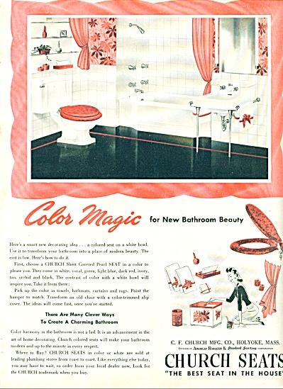 Church seats Color magic for bathroom ad (Image1)