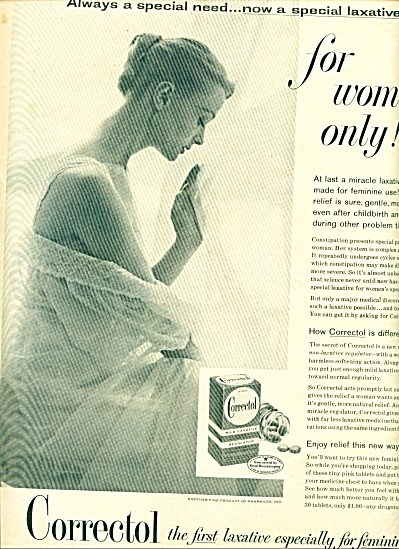 Correctal - Laxative for women ad 1957 (Image1)
