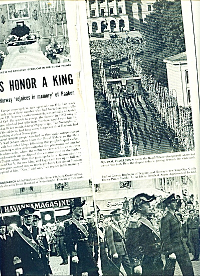 Death of Norway's King Haakon story 1957 (Image1)