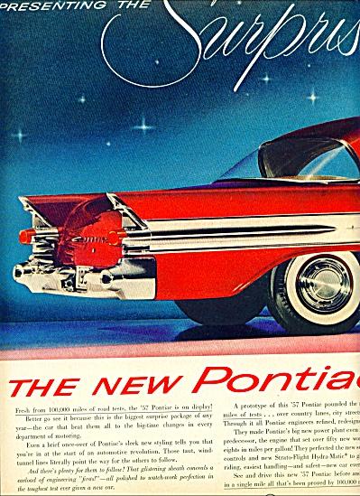 1957 Pontiac (1956) 2 pg Star Chief CAR AD (Image1)