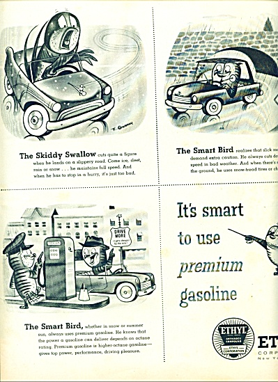 1956 Ethyl Corporation AD GURNEY ART (Image1)