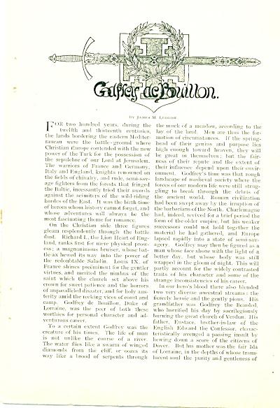 1897 Godfrey de Bouillon DUKE LORRAINE Story (Image1)