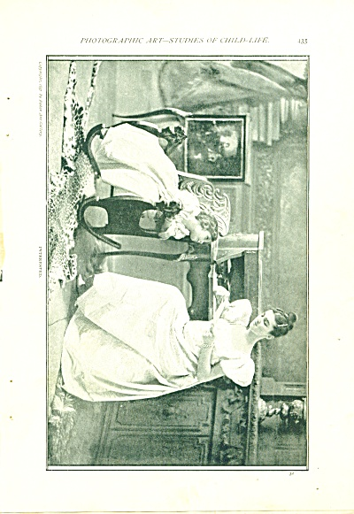 1897 PHOTO ART  Study of Child Life Baker Art (Image1)