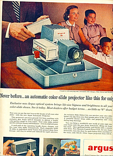 Argus color slide projector ad 1956 (Image1)