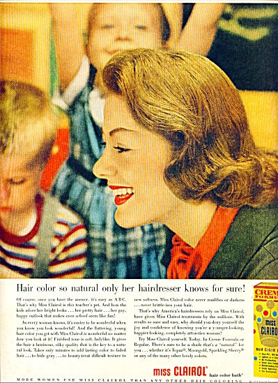 1956 Miss Clairol ONLY HER HAIRDRESSER ad (Image1)