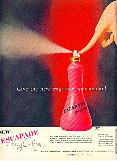 Escapade spray cologne ad 1956 (Image1)