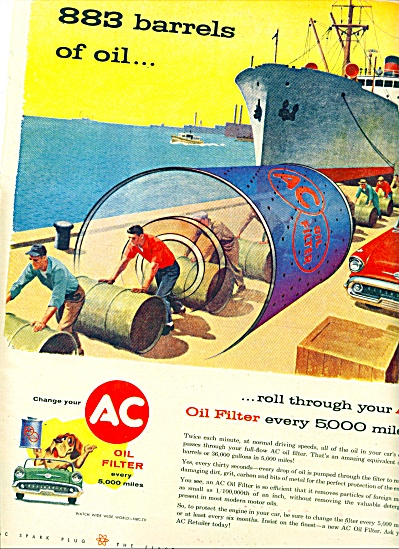 1956 AC oil filter ad SHIP - Dock ARTWORK (Image1)