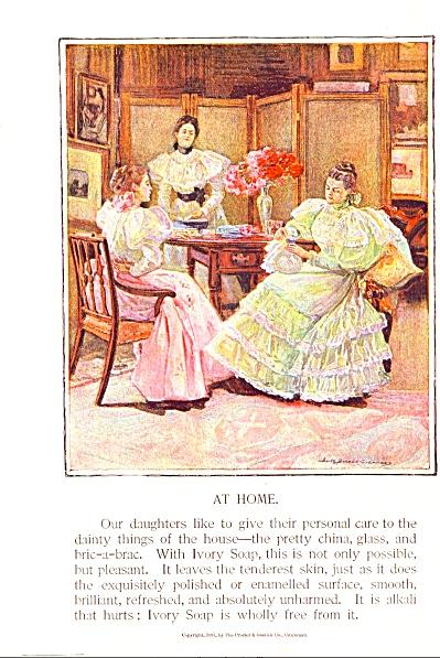 1897 IVORY SOAP AD Stunning ARTWORK (Image1)