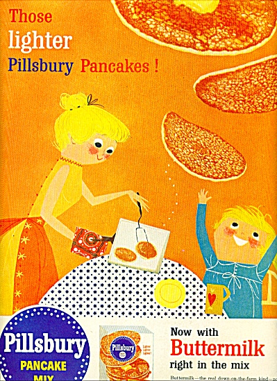 1956 Pillsbury Pancake Cartoon AD Buttermilk (Image1)