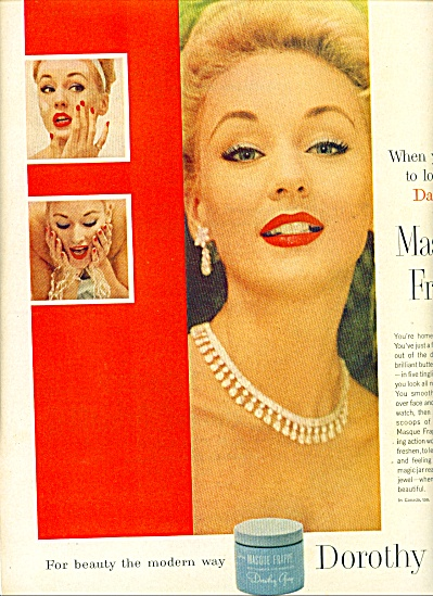 1956 Dorothy gray Masque Frappe ad Model (Image1)